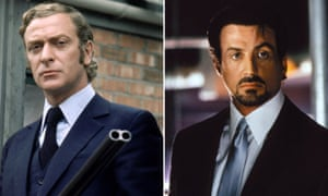 Michael Caine in the original Get Carter (1971) and Sylvester Stallone in the 2000 remake.