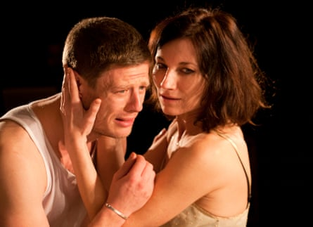 Vulnerable damaged sweetness … James Norton and Kate Fleetwood in Bug.