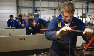 Apprentices at the aerospace site in Warton, which employs 6,000 people
