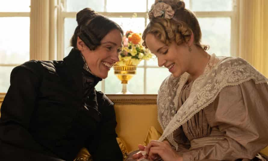 Anne Lister (Suranne Jones) and Ann Walker (Sophie Rundle) in a scene from Gentleman Jack, the forthcoming TV drama series written and directed by Sally Wainwright.