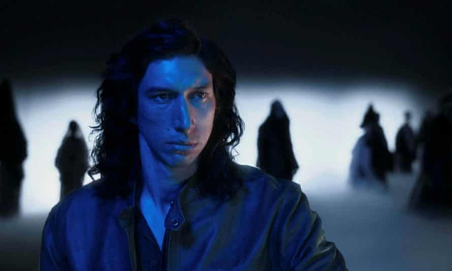'A steely-eyed Adam Driver' in a scene from Annette