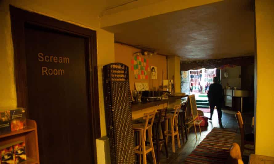 Scream room at Bab Aldonia in Cairo