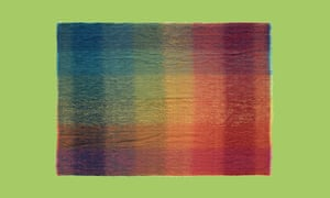 Green Grove Weavers mohair prismatic throw