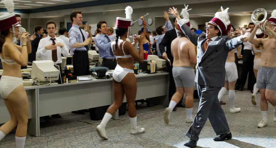 Outrageously entertaining … The Wolf of Wall Street.