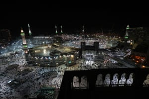 A wide view of the Grand Mosque taken on 18 August, before the start of the annual hajj pilgrimage.