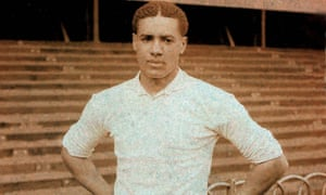 Walter Tull played for Tottenham, above, before joining Northampton, where there is a memorial to their former player outside Sixfields Stadium.