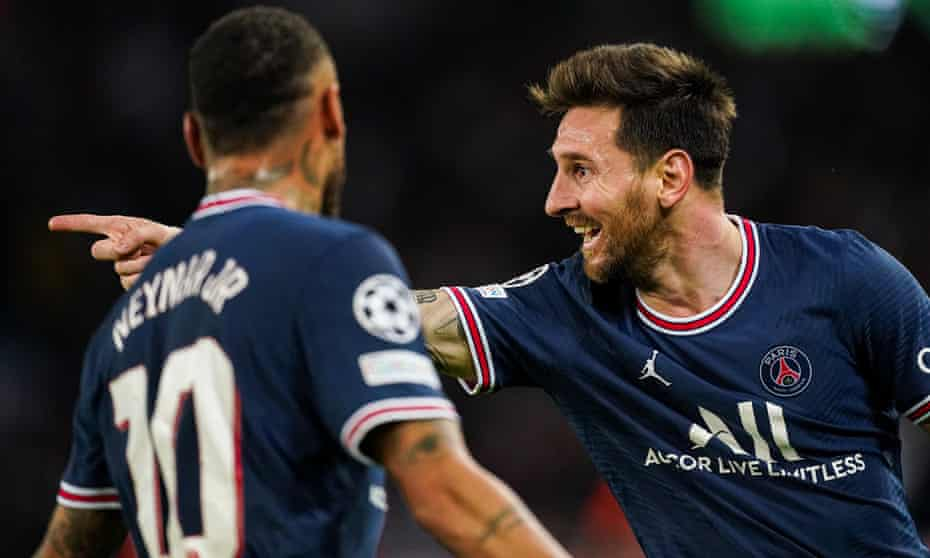 Lionel Messi and Neymar had contrasting evenings during Paris Saint-German's 2-0 win over Manchester City