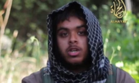 Reyaad Khan pictured in a recruitment video for the terror group Isis.