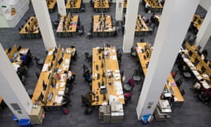 Students study in the main LSE library.