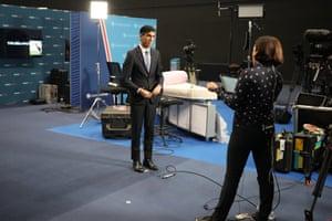 Rishi Sunak being interviewed this morning.
