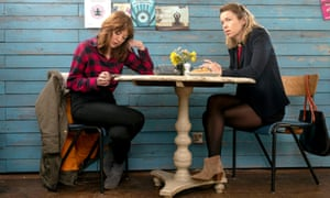 Liz (Diane Morgan) and Julia (Anna Maxwell Martin) in the second series of Motherland.