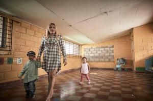 Susana, who was sentenced to 15 years in prison for drug trafficking, with her two children