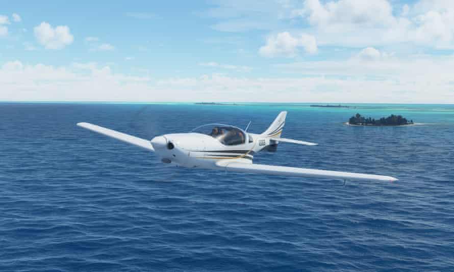 Flight Simulator 2020 ... flying in the Bahamas.