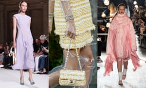 Pastels Anything with an ice-cream hue is sweet for SS18 – (left to right) Victoria Beckham, Chanel and Sies Marjan paved the way at the shows – and the high street has bought into it big time.