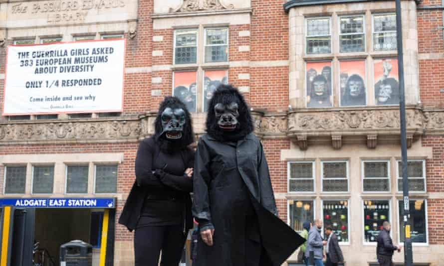 The Guerrilla Girls … fighting back against gender bias in the arts.