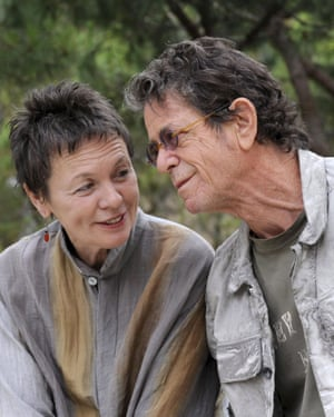 On tour with his wife, artist and musician Laurie Anderson, in Girona, Spain, 2009.