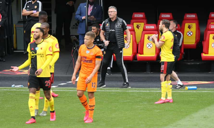 Nigel Pearson on the touchline during Watford's game against Newcastle in July.