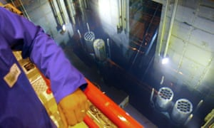 Radioactive nuclear waste on the way to being reprocessed at Sellafield