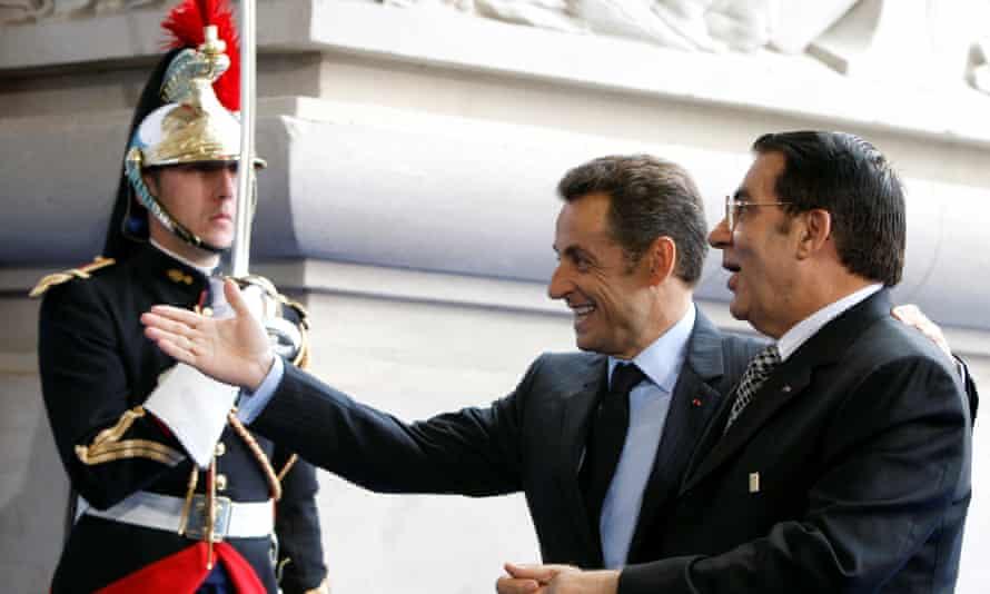 Ben Ali, right, with Nicolas Sarkozy at the EU-Mediterranean summit in Paris in 2008.