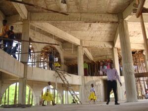 A new church under construction in Mwanza, Tanzania's second city.