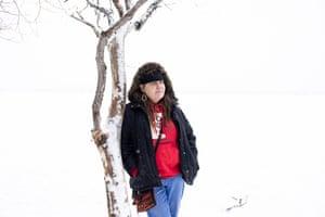 Nancy Beaulieu at Lake Irving in Bemidji, Minnesota.