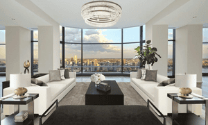 interior of the UN ambassador's penthouse at 50 United Nations Plaza