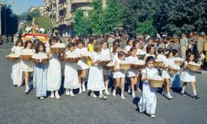 Girls parade.
