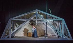 Michael Fabiano as Rodolfo and Nicole Car as Mimi in La Boheme by Puccini @ Royal Opera House.