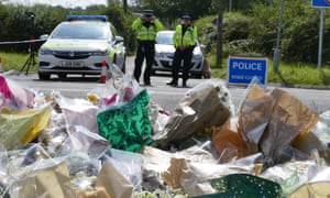 Tributes to Harper left by the roadside in Berkshire