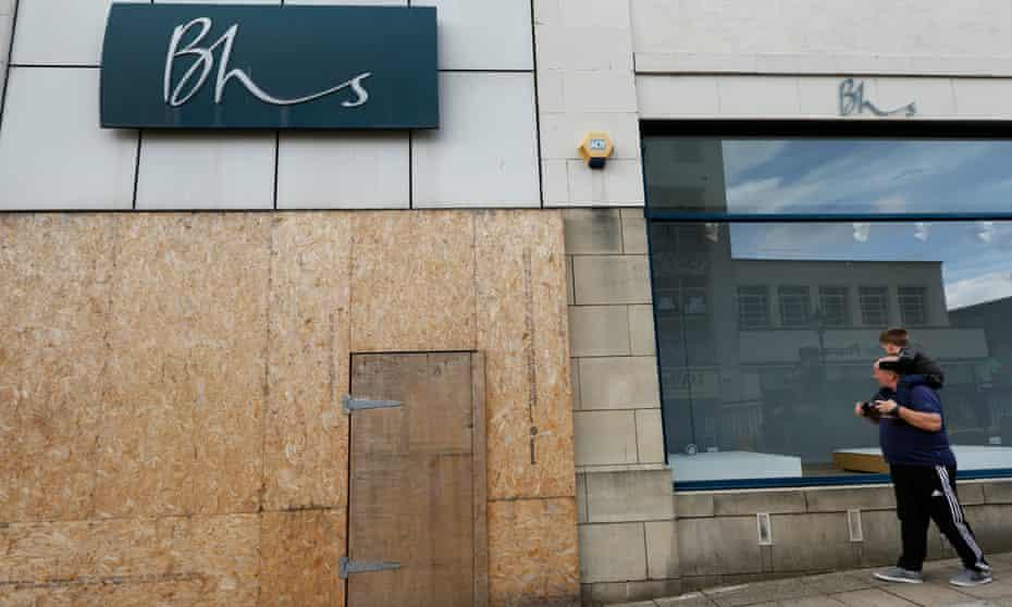 An empty BHS store in Falkirk, Scotland.