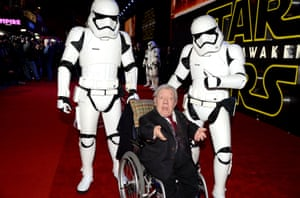 On the red carpet with Storm Troopers