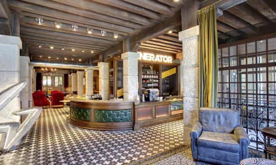 Bar and reception at Generator, Venice.