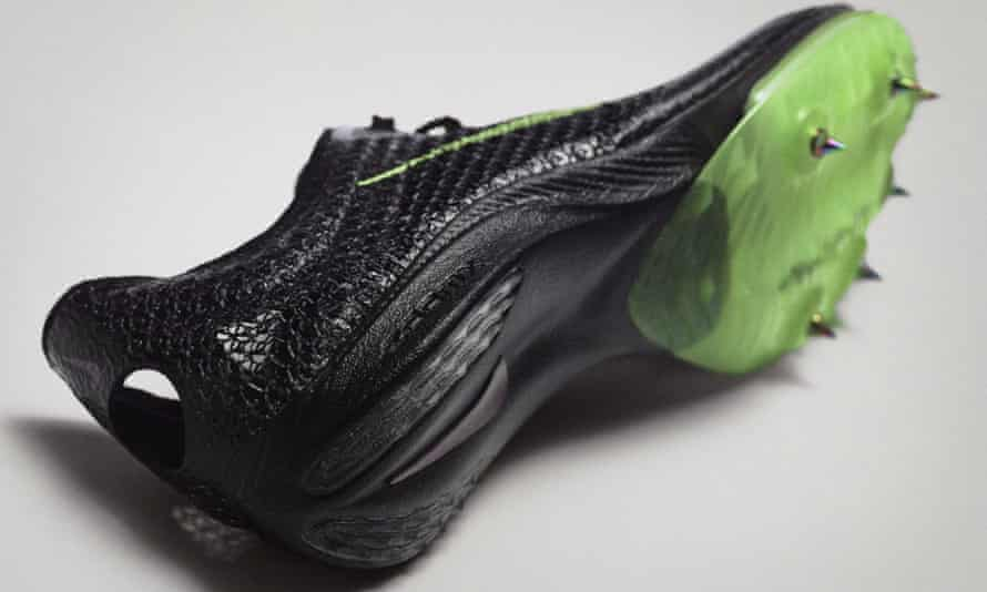 Nike Air Zoom Victory, also known as 'super spikes', the use of which has seen world records tumbling on the athletics track in recent months.