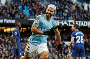 Aguero' second, and City's third.