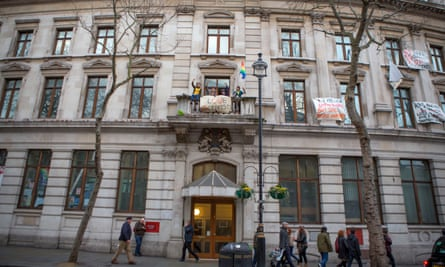 In December 2014, squatters protested against the housing crisis by taking over a former bank just off London's Trafalgar Square that had been empty for 18 months.
