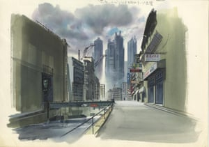 Image boards for Ghost in the Shell (1995) Gouache on paper