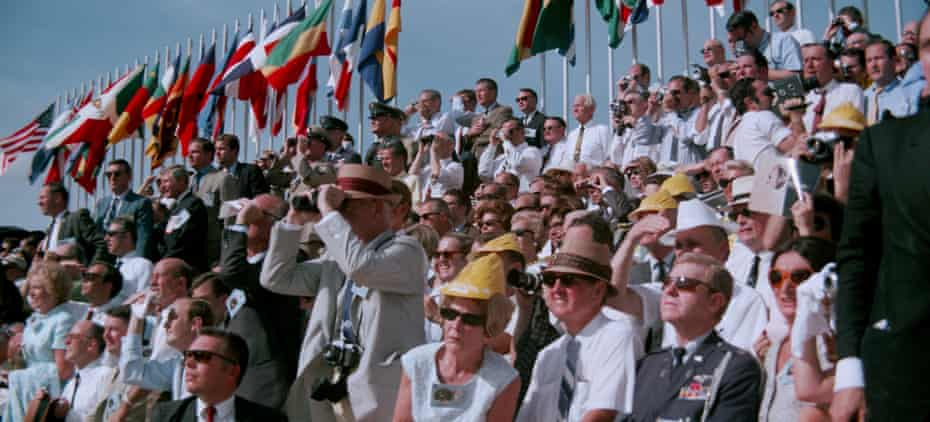 Nearly a million people gathered to watch Apollo 11's launch.