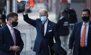 Joe Biden in Wilmington, Delaware on Tuesday.
