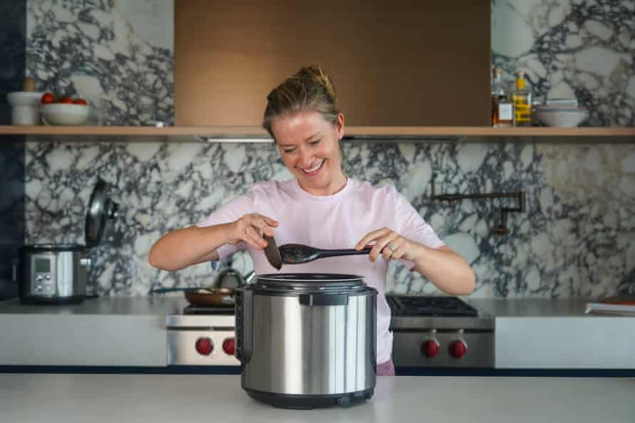 Katrina Meynink with her slow cooker. 'The more you use your slow cooker, the more you will understand how it behaves.'