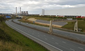 The almost empty lanes of the M1 motorway, 3 April 2020.