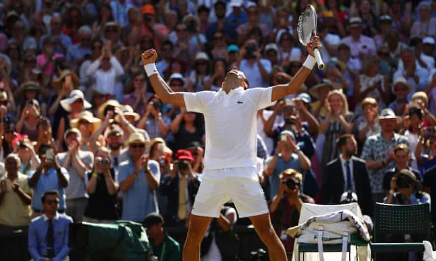 Novak Djokovic celebrates his Wimbledon win last year, an all too familiar sight.