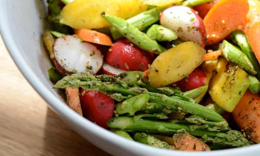 Vegetables in salad