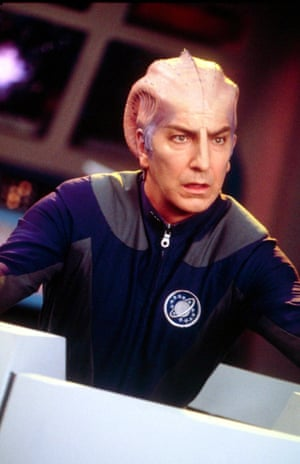 """People didn't get it when it first came out. It is genuinely funny, however. Extremely funny. A truly great piece of writing"" ... Rickman on 1999's sci-fi comedy Galaxy Quest"