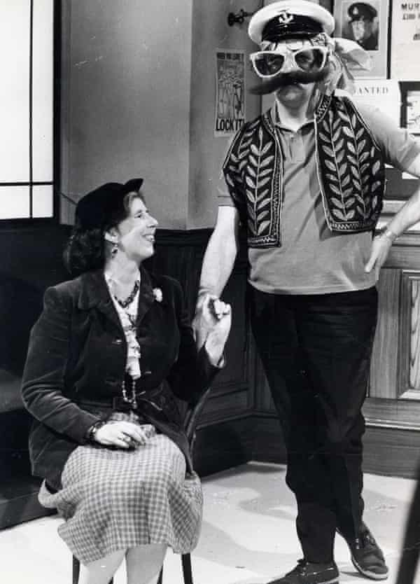 Damaris Hayman with Tommy Cooper on The Tommy Cooper Hour, 1974.