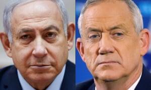 Benjamin Netanyahu (left) and Benny Gantz