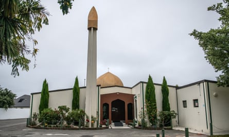 Al Noor mosque in Christchurch. Austrian police have raided the apartment of a far-right leader in an investigation possibly linking him to the man behind the deadly Christchurch attacks.