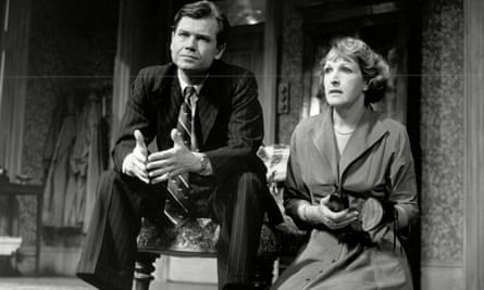 David Yelland and Penelope Keith in The Deep Blue Sea, by Terence Rattigan, at the Theatre Royal Haymarket, London.