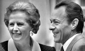 Michel Rocard with Margaret Thacher in 1988.