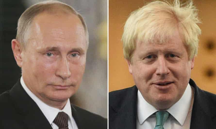 Vladimir Putin and Boris Johnson