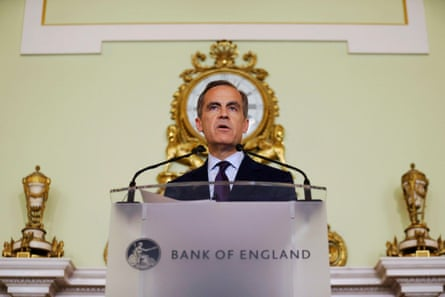 The governor of the Bank of England Mark Carney at a press conference last Thursday.